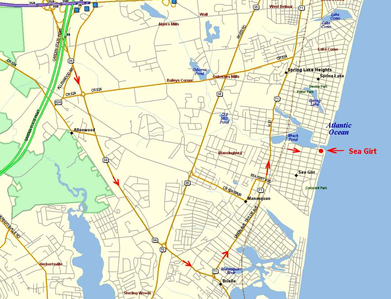 Map Of Garden State Parkway Home Of Home Design